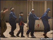 Gaza clansmen at Israeli army base