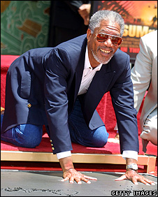 Morgan Freeman on the Hollywood Walk of Fame