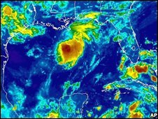 Satellite picture showing Tropical Storm Edouard