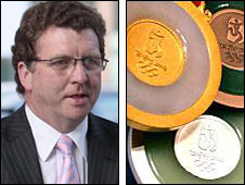 Gerry Sutcliffe and Beijing medals