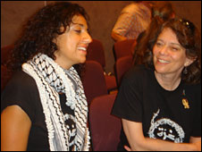 Huwaida Arraf (L) and Lynne Levy (R)