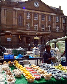 Market stall in Whitechapel