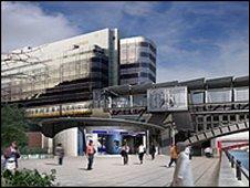 Artist impression of the new Blackfriars station