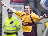 Motherwell forward David Clarkson