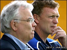 Bill Kenwright (left) and David Moyes
