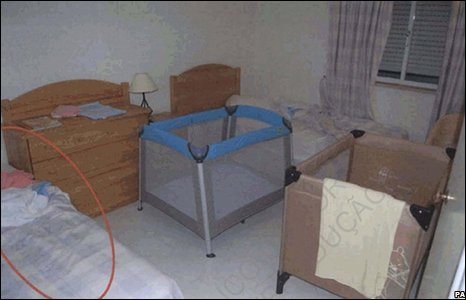 The bedroom at the McCanns' apartment