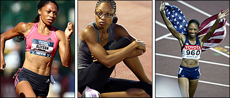 US sprinter Allyson Felix