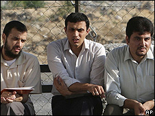 From the left: Fidaa Abed, Osama Daoud Zuhair Abu Shaaban