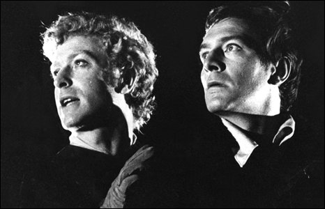 Michael Caine as Horatio and Christopher Plummer as Hamlet