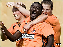 Dundee United midfielder Prince Bauben