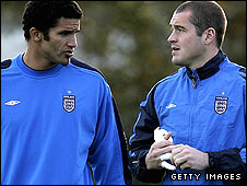 David James (left) and Paul Robinson