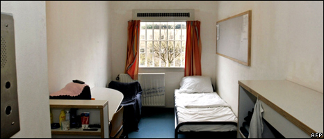 A room in the UN detention unit at The Hague (file image)