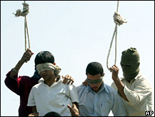Two Iranian youths are prepared for hanging in Mashhad, Iran (file picture)