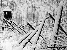 Ruins of a Gulag prison in Siberia