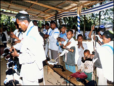 Ethiopian Jews pray in Addis Ababa. File photo