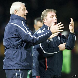 Rangers manager Walter Smith and assistant manager Ally McCoist