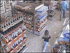 CCTV footage of a girl in a Algarve petrol station on 4 May 2007