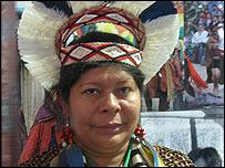 Ind�gena mapuche. (Foto: Patricia Mercado)