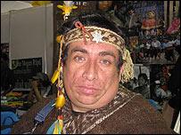 Willy Morales, indígena mapuche chileno (Foto: Patricia Mercado)