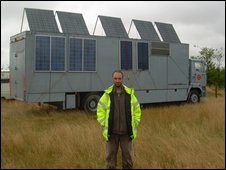 """Chan"" and his solar array"