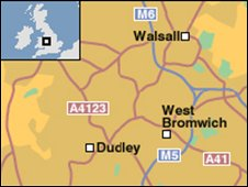 Map of the Black Country