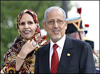 الرئيس الموريتاني المخلوع وزوجته