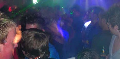 Clubbers in Zante