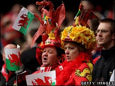 Welsh fans at the Millennium Statium