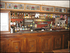 The bar at the Cherry Tree Inn