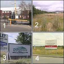 The shortlisted locations in Cwmbran, Merthyr, Caernarfon and Wrexham