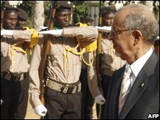 President Ould Cheikh Abdallahi, file image