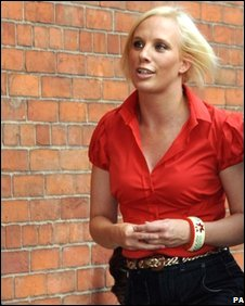 Kirsten O'Brien at the memorial