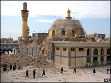 Bombed al-Askari shrine in Samarra (2006)