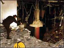 Aftermath of 1993 bombing of World Trade Center in New York