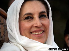 Benazir Bhutto, shortly before she was assassinated