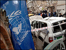 Aftermath of 2007 bombing of UNHCR in Algiers, Algeria