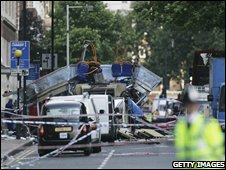 Bus bomb in Tavistock Square, London, 2005