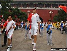 Yao Ming in Tiananmen Square