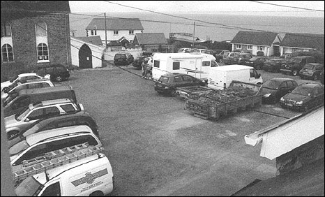 The carpark in Aberporth