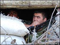 Грузинские миротворцы в селении Нули