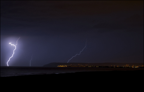 Storm photos over Eastbourne - photo by Stuart Mepham