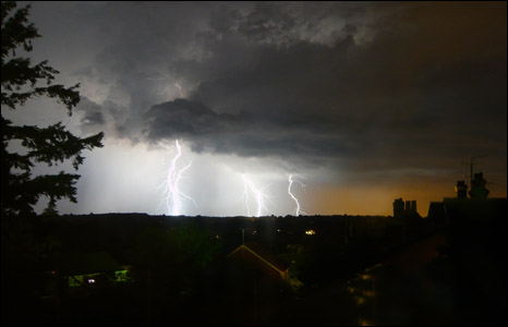Lightning over Hawkhurst  - Photo by Francesca Boorman