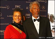 Myrna Colley-Lee and Morgan Freeman