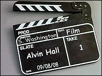 Alvin Hall clapperboard