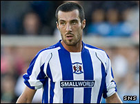Manuel Pascali in action for Kilmarnock