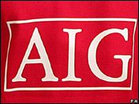 El Logo de AIG en una camiseta de Manchester United
