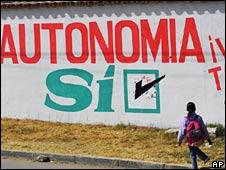 Pro-autonomy graffiti in Tarija