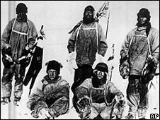 Dr E A Wilson (left), H R Bowers, Robert Scott, Taff Evans and L E G Oates on the doomed 1912 expedition