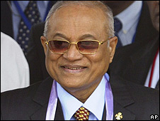 Maumoon Abdul Gayoom in Sri Lanka 1 August