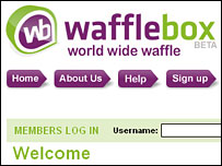 Wafflebox website